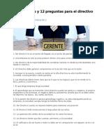 47 Mandatos y 12 Preguntas Para El Directivo Actual