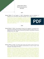 Resumes des publications 2004-2007
