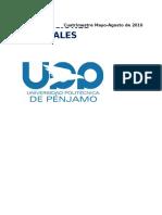 Indicaciones Generales PD Mayo-Agosto 2016