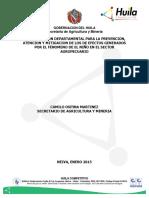 Plan de Acción Sector Agropecuario Fenómeno Cequia- Agricultura 2015