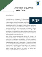 El Panafricanismo en El Caribe Francófono