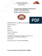 Plan de Estudio Explotacion Minera