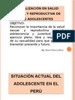 salud reproductiva en La Adolescencia en el Peru cambios físicos etapas estadísticas