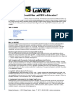 Why LabVIEW in Education