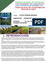 Demanda de Agua de Riego en El Perú