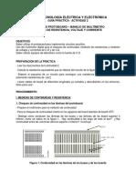 GuiaPractica Actividad2 Protoboard Multimetro Medidas TECNOLOGIA IEE UPB