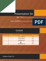 Presentation for IMC