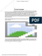 Raspberry Pi Torrent Manager - Google Docs