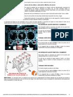 Secuencia de Ajuste y Torque en Pernos de La Culata o Cabezal de Cilindros de Motor (Spark1.0)