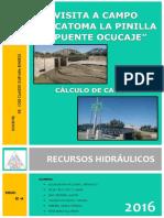 Visita a Bocatoma La Pinilla y Puente Ocucaje