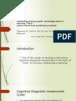 Development of Cognitive Diagnostic Assessment