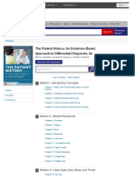 The Patient History an Evidence-Based Approach to Differential Diagnosis