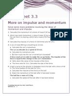 IGCSE Physics Worksheet 3.3