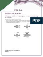 IGCSE Physics Worksheet 3.1