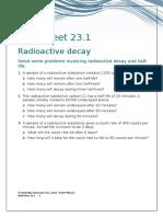 IGCSE Physics Worksheet 23.1