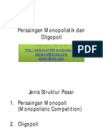Persaingan Monopolistik Dan Oligopoli