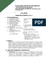 Sylabus -Química General e Inorgánica -Plan 2016- 2016-I