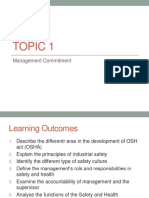 Topic 1 - OSH Management Commitment