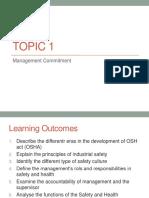 Topic 1 - OSH Management Commitment