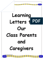 Our Staff Letters to Parents Term 1