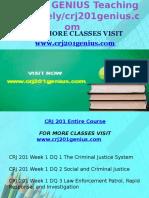 CRJ 201 GENIUS Teaching Effectively /Crj201genius.com