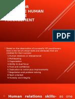 Skills for Effective Human Resource Management