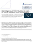 Dexamethasone and RU24858 Induce Survival and Growth Factor Receptor B