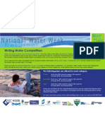 Water Week Writing Competition Flyer