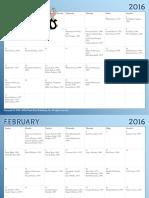 Composers Calendar 2016