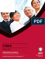 CIMA E1 Enterprise Operations Study Text 2013