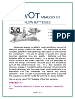 Swot Analysis of Flow Batteries