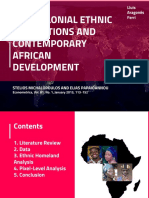 Pre-colonial Ethnic Institutions and Contemporary African Development