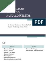 Dasar-dasar Radiologi Musculoskeletal