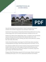 Arsitektur Islam Di Indonesia