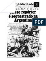 Jrnal Da Tarde-Uma Historia de Terror-Reportero Secuestrado en ARG-27!04!1982
