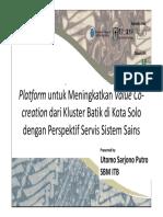 SBM - Platform Untuk Meningkatkan Proses Value Co-Creation Kluster Batik Solo