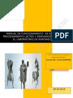 Manual de Funcionamiento Maquinarias y Equipos Agroindustrial.