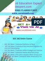 SOC 262 Aid Education Expert/soc262aidexpert.com