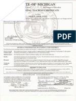 teaching certificate official