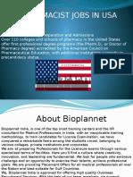 Pharmacist Jobs in Usa