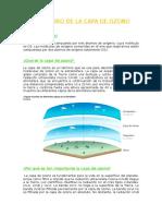 Deterioro de La Capa de Ozono