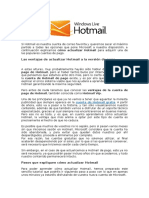 Como actualizar Hotmail