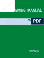 Mori Seiki MV-Series MY-M6 Programming Manual (PM-MVF180M-0E)