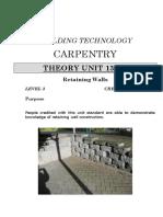 Unit13026Theory; Retaining Walls