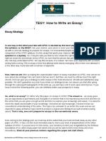 Upsc Essay Strategy_ How to Write an Essay! - Iasbaba