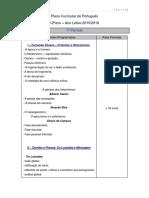 Plano Curricular Portugues 12ºAno 2015-2016
