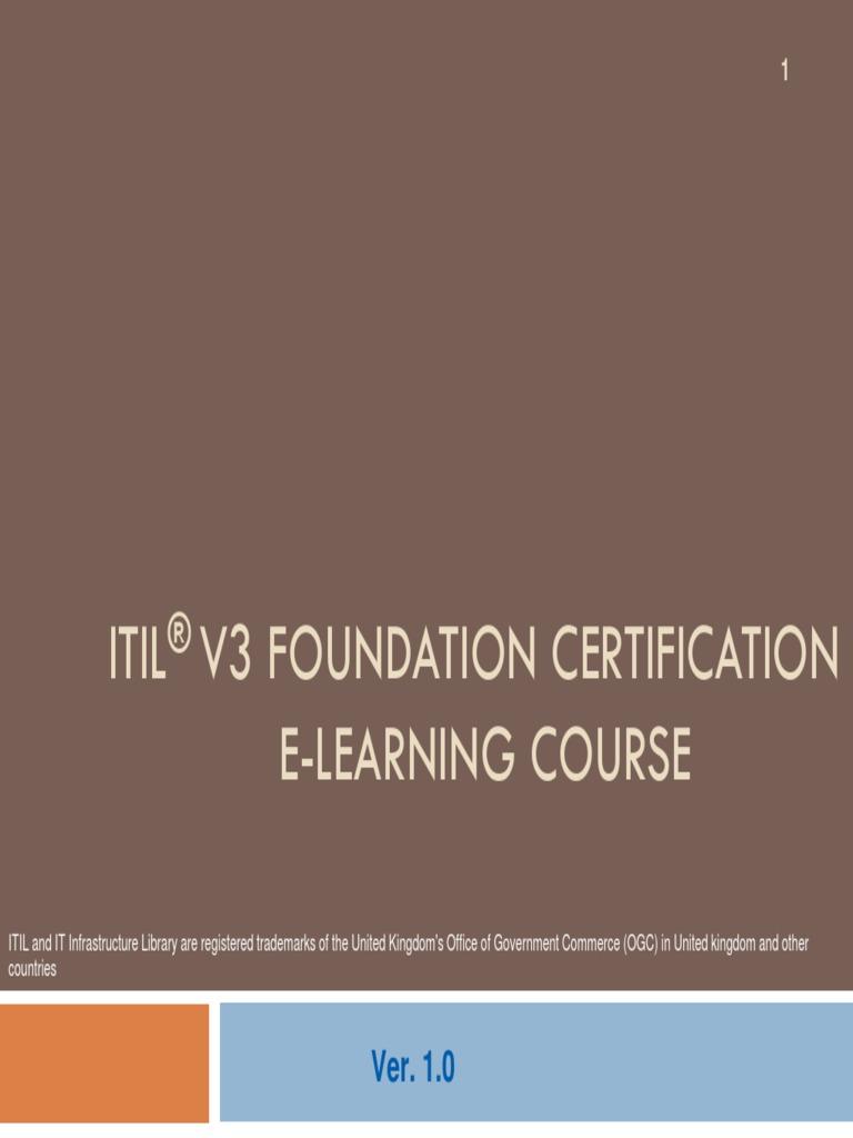 Itil v3 foundation course ebookpdf itil information security xflitez Image collections