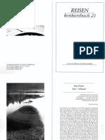 Peter Pörtner   Reise:Stillstand  - konkursbuch 21  1989