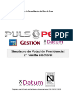 DATUM Simulacro de Votación Presidencial 2° vuelta electoral