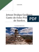 Jetsun Drakpa Gyaltsen Canto de Ocho Prácticas de Sueños.